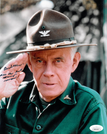 Harry Morgan signed M*A*S*H 8x10 Photo To Steve All the Best (Colonel Sherman T. Potter)- JSA Holo #DD32792