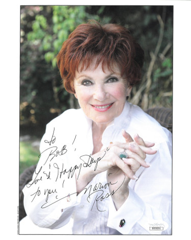 Marion Ross signed Color 8x10 Photo w/ To Bob Love & Happy Days to you- JSA Hologram #DD39201