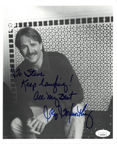 Jeff Foxworthy signed B&W 8x10 Photo To Steve Keep Laughing! All My Best- JSA Hologram #DD39200 (Blue Collar Comedy Tour)