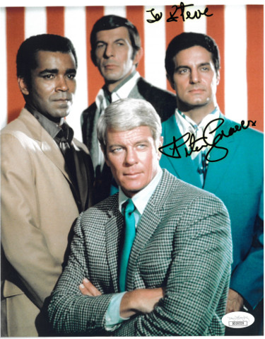 Peter Graves signed Mission: Impossible Cast 8x10 Photo To Steve- JSA Hologram #DD39320