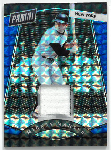 Mickey Mantle New York Yankees 2017 Panini Prizm Game Used Material Baseball Card- LTD 1/25- #MM