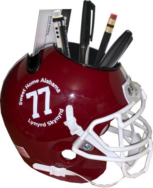 Lynyrd Skynyrd Alabama Crimson Tide Schutt Football Mini Helmet Desk Caddy #77 & Sweet Home Alabama