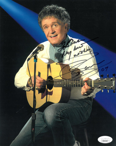 Whisperin' Bill Anderson signed Country Music Hall of Fame Color 8x10 Photo To Steve My Best Wishes- JSA Hologram #DD39346