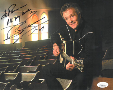 Whisperin' Bill Anderson signed Country Music Hall of Fame Color 8x10 Photo To Pam All My Best- JSA Hologram #DD39347