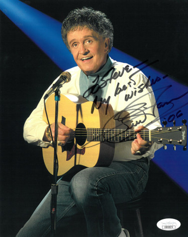 Whisperin' Bill Anderson signed Country Music Hall of Fame Color 8x10 Photo To Steve My Best Wishes- JSA Hologram #DD90874