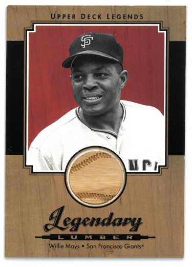 Willie Mays San Francisco Giants 2001 Upper Deck Legends Legendary Lumber Game Used Bat Trading Card #L-WM