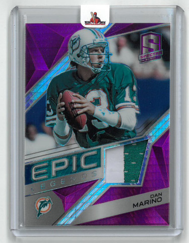 Dan Marino Miami Dolphins 2018 Panini Spectra Epic Legends Game Used Jersey Football Card #15- LTD 10/15