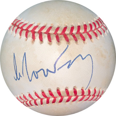 Mikhail Gorbachev USSR signed ROAL Rawlings Official American League Baseball minor tone spots- JSA LOA #BB18796
