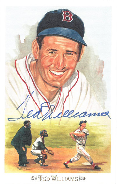Ted Williams signed 1989 Boston Red Sox Perez-Steele Celebration Postcard (photo) #43- JSA LOA #BB18768