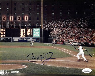 Cal Ripken, Jr. signed Baltimore Orioles 2131 Record Breaking Game 8X10 Photo- JSA Hologram #DD64348