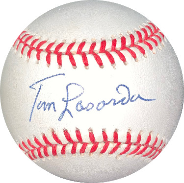 Tommy Lasorda signed RONL Rawlings Official National League Baseball- JSA Hologram #DD64389 (Los Angeles Dodgers)