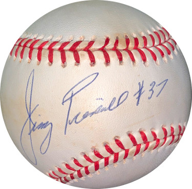 Jimmy Piersall signed ROAL Rawlings Official American League Baseball #37- JSA Hologram #DD64443 (Red Sox/Indians)
