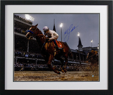 Mike E. Smith signed Justify 2018 144th Kentucky Derby 16x20 Photo Custom Framing Triple Crown- Steiner Hologram