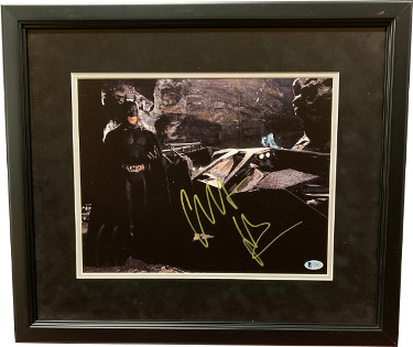 Christian Bale signed 2005 Batman Begins 11X14 Photo Custom Framing- Beckett Holo #C88812
