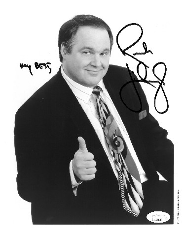 Rush Limbaugh signed B&W 8x10 Photo My Best- JSA Hologram #EE41602 (Talk Show Host/Commentator)