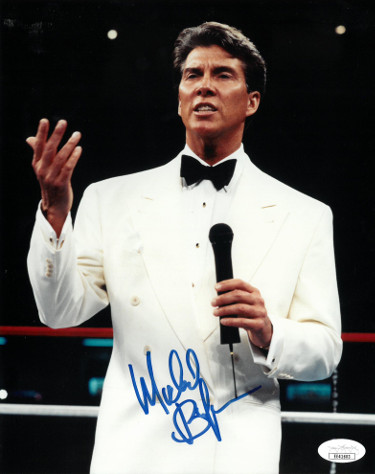 Michael Buffer signed 8x10 Photo- JSA Hologram #EE41603 (Boxing Announcer)