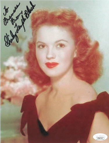 Shirley Temple Black signed Vintage 7.5x10 Photo To Frances- JSA Hologram #DD64741