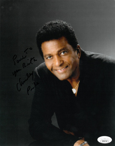 Charley Pride signed 8x10 Photo Love to You Rita- JSA Hologram #DD64749