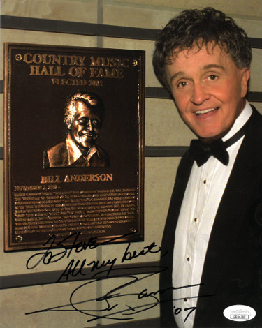 Whisperin' Bill Anderson signed Country Music Hall of Fame Color 8x10 Photo To Steve All My Best- JSA Hologram #DD64750