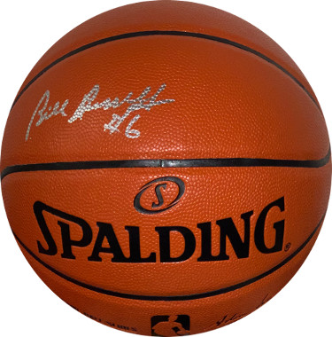 Bill Russell signed Spalding NBA Game Series Rep Indoor/Outdoor Basketball #6- JSA Witnessed Hologram #WP416227 (Celtics)