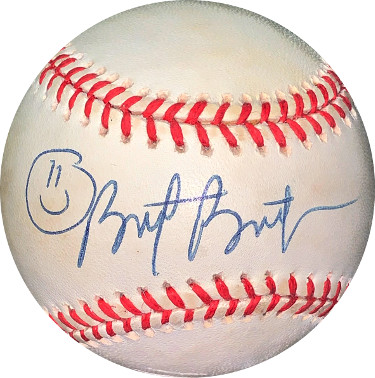 Brett Butler signed RONL Rawlings Official National League Baseball minor tone spots- JSA Holo #EE41748 (Pittsburgh Pirates)
