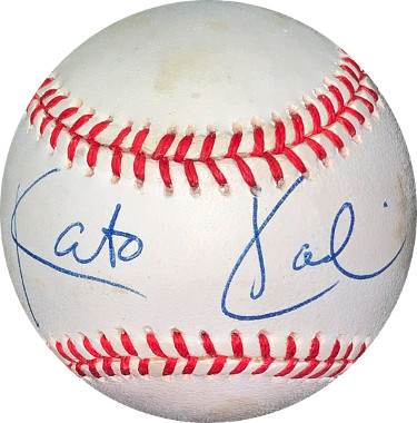 Kato Kaelin signed RONL Rawlings Official National League Baseball very minor tone spots- JSA Holo #EE41758 (OJ Simpson Trial)
