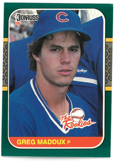 Greg Maddux Chicago Cubs 1987 Donruss The Rookies Baseball Rookie Card (RC) #52