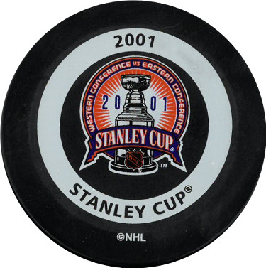 2001 Stanley Cup Official NHL Game Puck