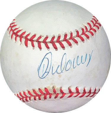 Rey Ordonez signed RONL Rawlings Official National League Baseball minor tone spots- JSA Hologram #EE41844 (Mets/Rays/Cubs)