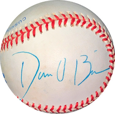 Dan O'Brien signed ROAL Rawlings Official American League Baseball very minor tone spots- JSA Holo #EE41627 (Olympics)