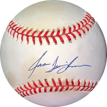 Jason Isringhausen signed RONL Rawlings Official National League Baseball very minor spots- JSA Holo #EE41620 (Mets/Cardinals)