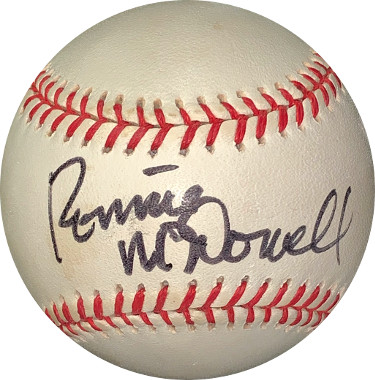 Ronnie McDowell signed RONL Rawlings Official National League Baseball- JSA Hologram #EE41676 (country music)