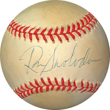 Ron Swoboda signed ROAL Rawlings Official American League Baseball toned- JSA Hologram #EE41778 (New York Yankees)