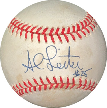 Al Leiter signed RONL Rawlings Official National League Baseball #25 minor spots- JSA Hologram #EE41679 (Marlins/Mets)