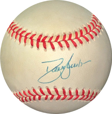 Dave/David Justice signed RONL Rawlings Official National League Baseball- JSA Hologram #EE41675 (Braves/Yankees)