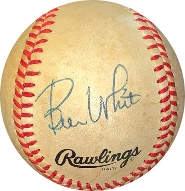 Bill White signed RONL Rawlings Official National League Baseball toned- JSA Hologram #EE41677 (Giants/Cardinals)