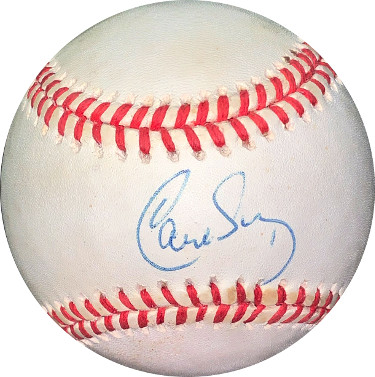 Carlos Baerga signed ROAL Rawlings Official American League Baseball minor tone- JSA Hologram #EE41834 (Cleveland Indians)