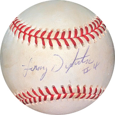 Lenny Dykstra signed RONL Rawlings Official National League Baseball #4 minor spots- JSA Hologram #EE41701 (Mets/Phillies)