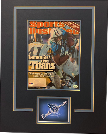 Eddie George signed Tennessee Titans Sports Illustrated Magazine Matted (16x20) November 13, 2000 #27- PSA Hologram #Y70084