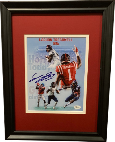 Laquon Treadwell signed Ole Miss Rebels 8x10 Photo Custom Framing- JSA Witnessed Hologram #WP99853