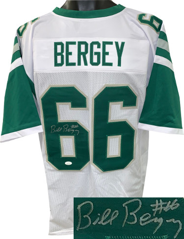 Bill Bergey signed White TB Custom Stitched Pro Style Football Jersey #66- JSA Witnessed Hologram