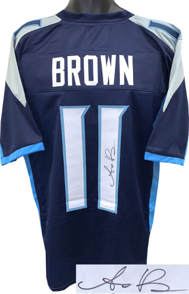 AJ (A.J.) Brown signed Navy Blue Custom Stitched Pro Style Football Jersey XL- JSA Signature Debut Hologram