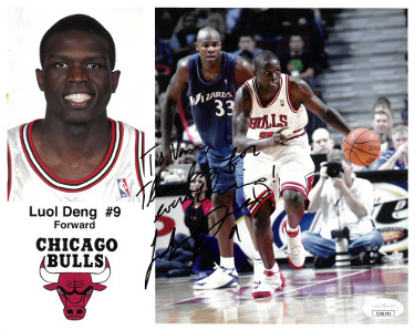 Luol Deng signed Chicago Bulls 8x10 Photo #9 To Van Thanks for Everything- JSA Hologram #EE62745