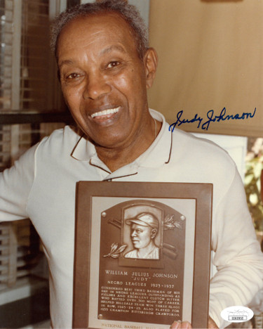 Judy Johnson signed Negro League Hall of Fame 8x10 Photo- JSA Hologram #EE62952