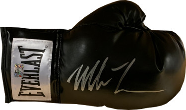 Mike Tyson signed Black Everlast Right Boxing Glove- Tyson/Fiterman Hologram