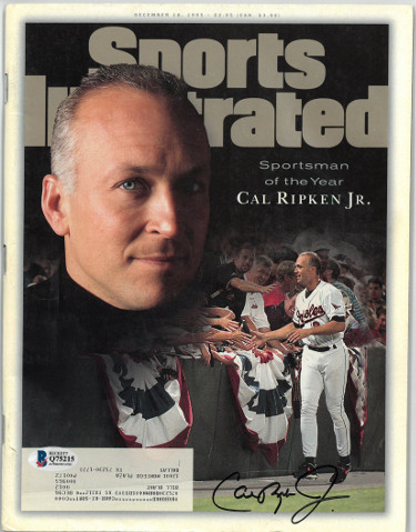 Cal Ripken, Jr. signed Baltimore Orioles Sports Illustrated Full Magazine 12/18/1995 Sportsman of the Year- Beckett/BAS #Q75215