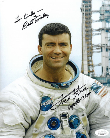 Fred Haise signed NASA Astronaut/Pilot Vintage Color 8x10 Photo Apollo 13 LMP Best Wishes To Cindy- JSA Hologram #EE63196