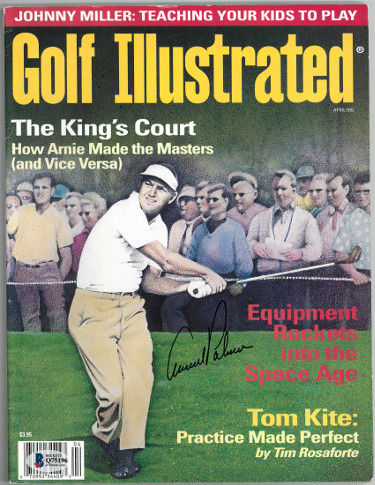 Arnold Palmer signed Golf Illustrated Full Magazine April 1993 (no label)- Beckett/BAS Hologram #Q75196