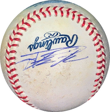 Howie Kendrick signed Rawlings Official Major League Baseball scuffed/smudged- JSA Hologram #EE63106 (Angels/Nationals)