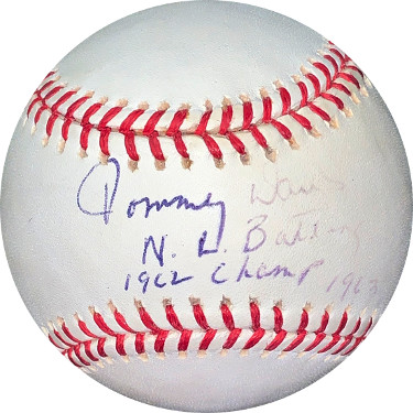 Tommy Davis signed Rawlings Official Major League Baseball NL Batting Champ 1962 1963 fade/minor tone- JSA #EE63120 (Dodgers)